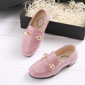 女童皮鞋新款女童鞋英倫風平底單鞋