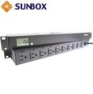 10孔20安培 LCD電錶 機架型排插 ...