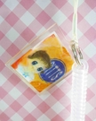 【震撼精品百貨】日本精品百貨-手機吊飾/鎖圈-伸縮吊飾-奶哥(橘)