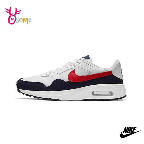 NIKE運動鞋 男鞋 AIR MAX SC 氣墊 慢跑鞋 避震 耐磨 跑步鞋 氣墊運動鞋 Q7146#白紅◆奧森