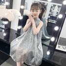 女童連衣裙夏裝新款兒童裝洋氣星空公主裙大童紗裙小女孩禮服裙子