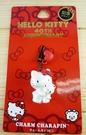 【震撼精品百貨】Hello Kitty 凱蒂貓~KITTY耳機防塵塞-40周年抱熊(白)垂吊