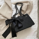 秋冬質感高級小眾設計包包女2020新款潮時尚鏈條百搭單肩斜挎ins 極簡雜貨