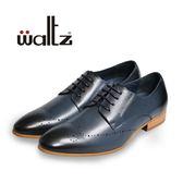 Waltz-復古刷色雕花紳士鞋212127-07(藍)