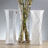 花瓶富貴竹中大號玻璃透明百合水培簡約現代六角客廳桌面插花花瓶