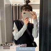 2020新款秋季韓版修身顯瘦半高領鏤空長袖打底衫女秋冬內搭上衣服 歐韓