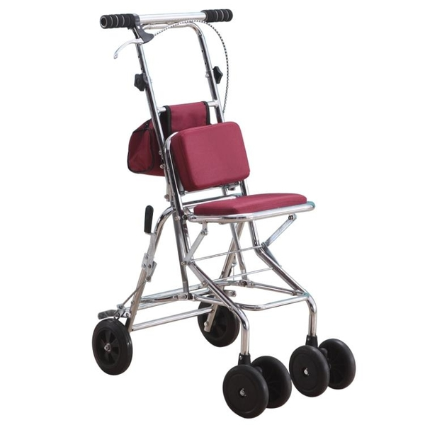 新款老人代步車折疊購物座椅可坐四輪買菜助步可推老人手推車 【八折搶購】