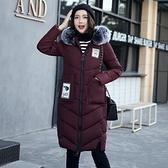 羽絨外套-連帽長款時尚大口袋毛領女夾克4色73pa6[巴黎精品]