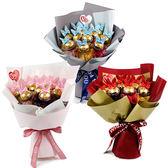 幸福婚禮小物❤萌兔11顆金莎巧克力花束❤ 情人節禮物/金莎巧克力/情人節花束/七夕情人節