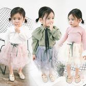 女童裙子新款寶寶百搭莎莎半身裙小女孩絲帶公主短裙 【店內再反618好康兩天】