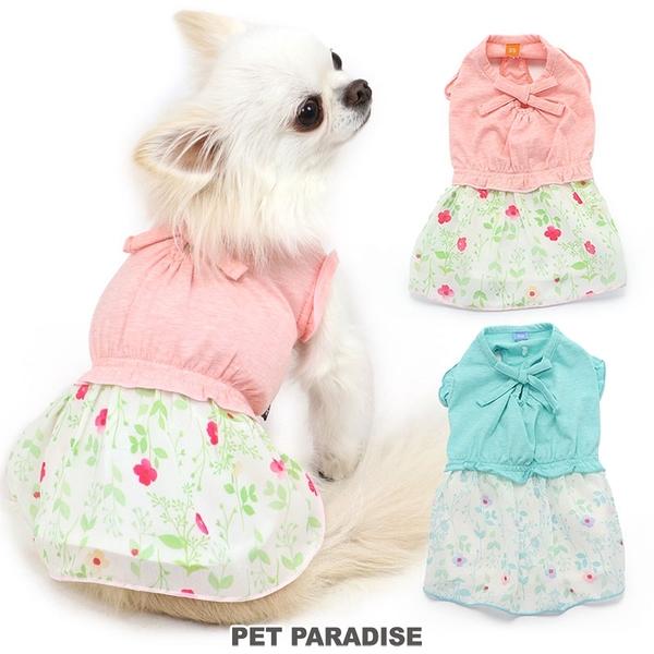 【PET PARADISE 寵物精品】PP 碎花雪紡洋裝 2色/粉色 (3S/DSS/SS/DS/S) 寵物用品 寵物衣服