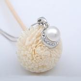 925純銀項鍊 珍珠墜子-鑲鑽浪漫生日情人節禮物女飾品73aj367【巴黎精品】