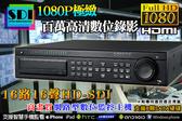 監視器 16路16聲 HD SDI 超高解析 遠端監控 主機 百萬畫素 監控 DVR 攝影機 台灣安防