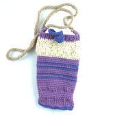 手編手機袋 / 紫色圓舞曲 (適用5吋以下手機)