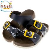 《布布童鞋》台灣製童趣小貓熊藍色兒童歐風拖鞋(15~22公分) [ T0B018B ]