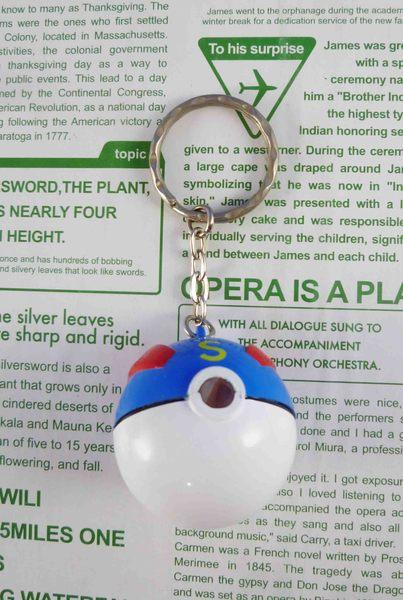 【震撼精品百貨】神奇寶貝_Pokemon~放大鎖圈/鑰匙圈-寶貝球(藍)