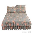 夾棉床裙式三件套加厚1.5m1.8米防滑塵保護床套床罩款單件床裙罩3 樂活生活館