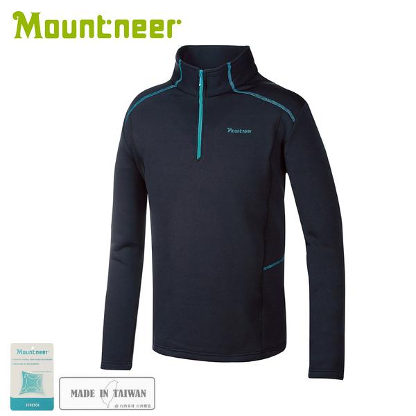 【Mountneer 山林 男針織保暖上衣《黑》】32P25/保暖長袖/休閒長袖