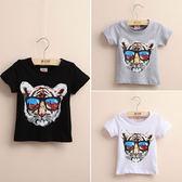 現貨  2-14歲 女童 2019夏裝韓版新款男童女童童裝短袖T恤 寶寶兒童圓領上衣