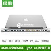 Type-C擴展塢usb千兆網卡HDMI HUB適用蘋果電腦雷電3轉換器