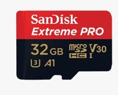 SanDisk Extreme Pro Micro SDHC 32G 記憶卡/支援UHS-1/A1/V30/100MB/90MB/s