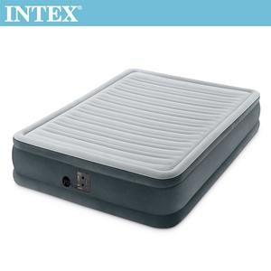 INTEX豪華型橫條內建幫浦充氣床-寬137cm(67767)