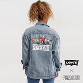 [第2件1折]Levis 女款 牛仔外套 / Snoopy限量系列 / Baggy 極寬鬆版型