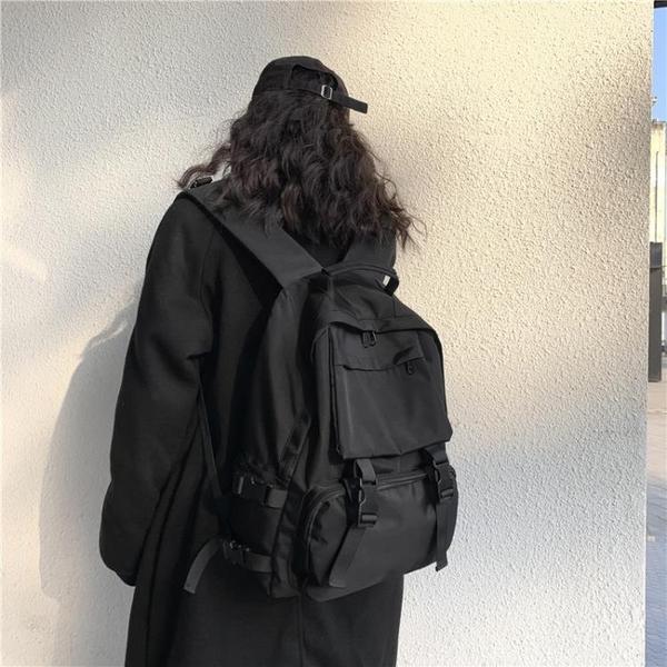 書包女韓版高中原宿ulzzang大學生百搭ins雙肩包大容量暗黑背包男 後街五號