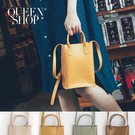 Queen Shop【06010374】簡約素色長形皮質肩背包附防塵袋 四色售*現+預*