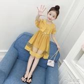 女童洋裝新款韓版夏裝兒童露肩紗裙公主裙女孩洋氣夏季裙子