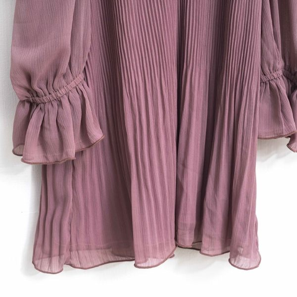 秋冬下殺↘5折[H2O]肩帶可調節壓褶顯瘦雪紡上衣 - 深藍/白/灰紫色 #8655003