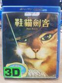 挖寶二手片-Q00-403-正版BD【鞋貓劍客 3D+2D】-藍光動畫 影印海報