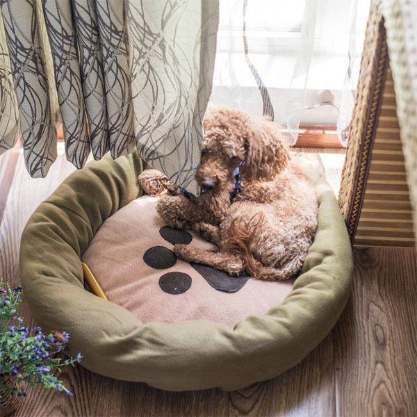 小型犬泰迪狗窩耐咬夏季狗狗屋睡墊寵物用品沙發狗床墊子貓窩四季RM