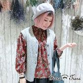 【Tiara Tiara】花繪/點點長袖半開襟襯衫(藍花/藍點點/紅花)