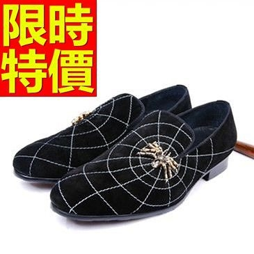 男皮鞋-時尚輕便懶人休閒男樂福鞋1色59p20[巴黎精品]
