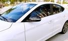 【車王汽車精品百貨】現代 Hyundai Super Elantra 牛角 碳纖維紋 後視鏡蓋 後視鏡框 方向鏡裝飾框