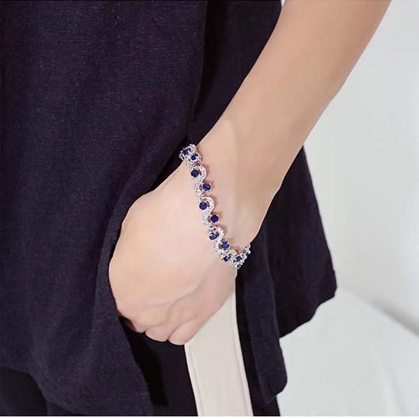 【5折超值價】時尚精美歐美流行鑲鑽造型女款鈦鋼手鍊