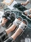 外穿拖鞋女夏室內夏天家用防滑厚底情侶一對港風網紅涼拖男ins潮「時尚彩紅屋」