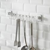 【超取299免運】廚房浴室免打孔排勾 牆壁門後掛鉤 吸盤掛桿 牆上置物杆