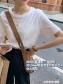新款2021年白體恤打底百搭短袖純色圓領內搭上衣T恤女 奇妙商鋪