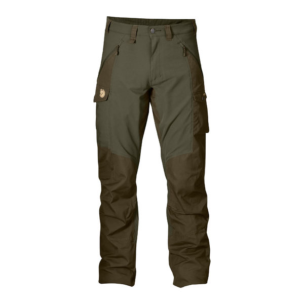 Fjallraven Abisko Trousers G1000 彈性長褲 男 暗棕綠