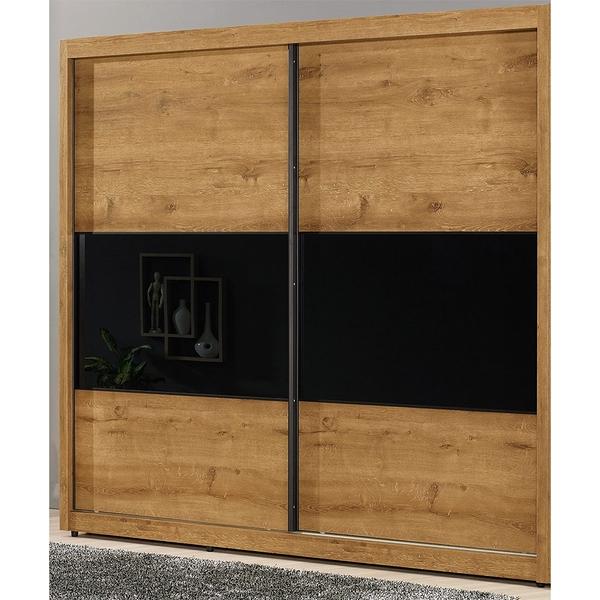 【森可家居】費利斯7尺拉門衣櫥 8CM515-1 衣櫃 木紋質感
