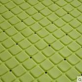 衛浴地墊淋浴防滑腳墊 衛生間門廳PVC墊子 洗澡踩腳墊浴室【40*70CM 吸盤防滑 田字 綠色】
