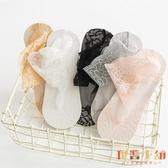 5雙裝 襪子女薄款蕾絲襪純棉底短筒船襪隱形短襪【倪醬小舖】
