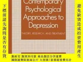 二手書博民逛書店Contemporary罕見Psychological Approaches To DepressionY25