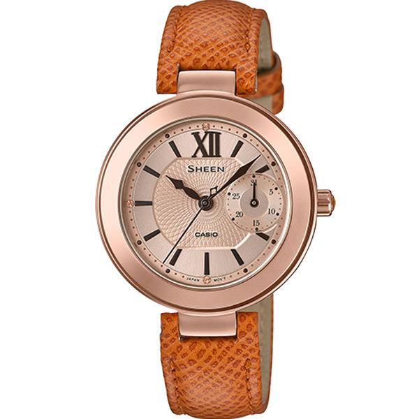 CASIO卡西歐SHEEN優雅棕色腕錶      SHE-3051PGL-7A