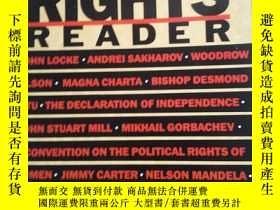 二手書博民逛書店Human罕見Rights Reader(Revised Edi