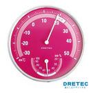 【日本DRETEC】溫濕度計-粉...