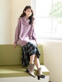 秋冬8折[H2O]活動領可多種穿法馬海毛加蔥長版毛衣 - 淡紫/白/粉色 #9650020