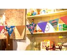 [韓風童品] 派對掛飾  節慶派對彩旗  度假風派對三角彩旗   櫥穿宴會PARTY 掛飾  攝影道具掛飾